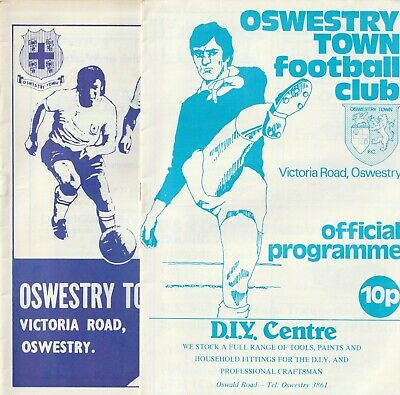 £3.50 • Buy Oswestry Town FC Home Programmes 1975 To 1978