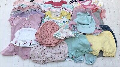 AU30.68 • Buy Baby Girl 0-3 Months Mixed Clothes Large Bundle - 32 ITEMS