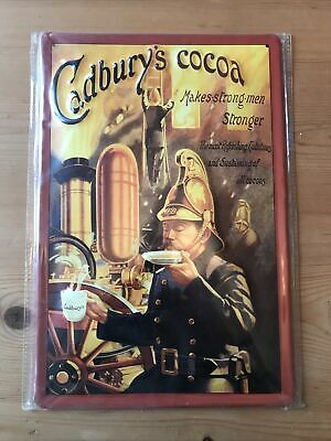 £2 • Buy Cadbury's Cocoa Repro Pressed Tin Sign