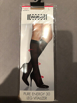 £8.50 • Buy WOLFORD PURE ENERGY 30 LEG VITALIZER KNEE-HIGHS (Cosmetic)Size L