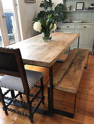 AU600 • Buy 8 Seater Dining Timber Table And Benches