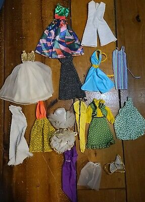 $ CDN12.70 • Buy Vintage Barbie Doll Clothes Lot Mixed Lot Of Dresses CL11