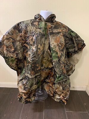 £7.60 • Buy Bill Jordans Advantage Timber Camouflage Hooded Rain Poncho Men 70 Inch Chest