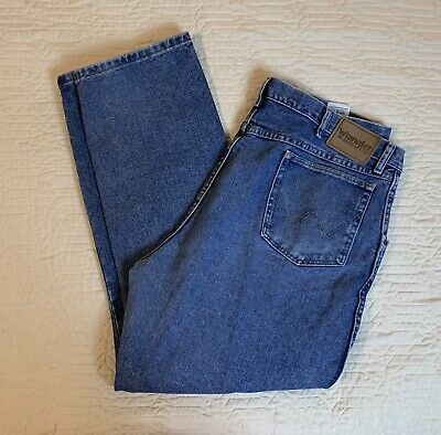 $ CDN12.56 • Buy Wrangler Blue Jeans Rugged Wear Men Size 42x30 Relaxed Straight Work Casual