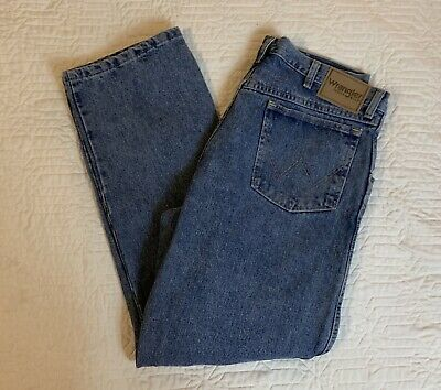 $ CDN14.79 • Buy Wrangler Rugged Wear Blue Jeans Men Size 36x30 Relaxed Straight Med Wash Cotton