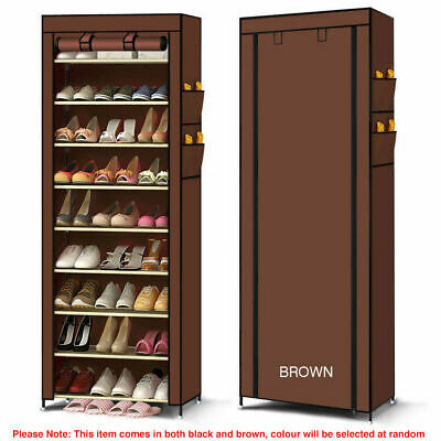 AU29.95 • Buy 10 Tier Shoe Rack Waterproof Non-Woven Cover Cabinet/Organiser/Storage Shelves