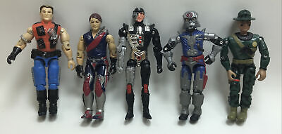 """$ CDN18.15 • Buy GI Joe 1986-1997 Lot Of 4 Hasbro Action Figures 3.75"""" Inch Size And 1 Unknown"""