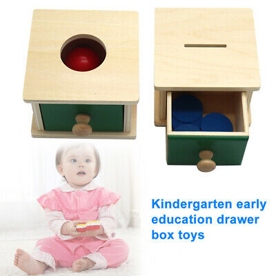 £8.64 • Buy Wooden Drawer Box Coin Piggy Bank Montessori Baby Toy Preschool Toys Gifts