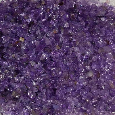 £4.88 • Buy Amethyst Gemstone Chips Nuggets No Hole Undrilled For Bottles Jewelry Gem Small