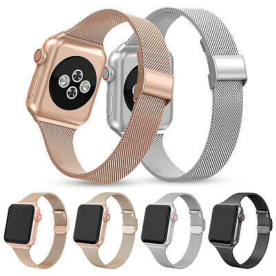 AU13.47 • Buy Milanese Slim Band Thin Strap For Apple Watch Series 5 4 3 2 44mm 40mm 42/38mm