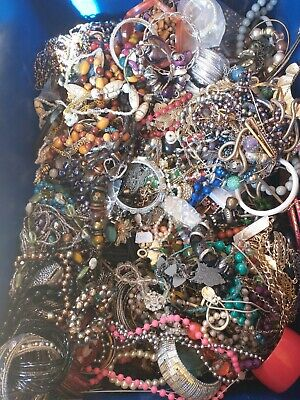 £8 • Buy Costume Jewelry Job Lot 1kg Resale Wearable Modern And Vintage Mix