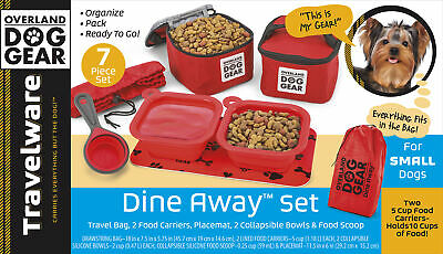 $ CDN66.37 • Buy Mobile Dog Gear Dine Away Dog Travel Bag For Small Dogs Red