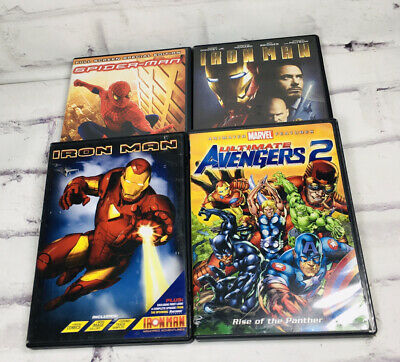 £7.27 • Buy Marvel DVD Spider-Man Iron Man Avengers 2 Animated Panther Ultimate Lot Cartoon