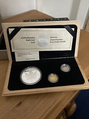 £500 • Buy 1989 Royal Canadian Mint Maple Leaf 5 Dollar Coin Set Gold Platinum Silver