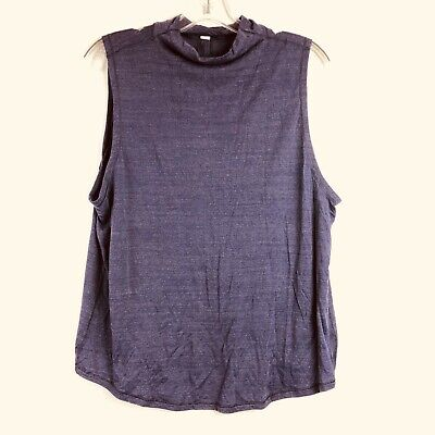 $ CDN39.89 • Buy Lululemon Twist & Reach Mock Neck Open Back Tank Top Purple Heathered Aeon 4