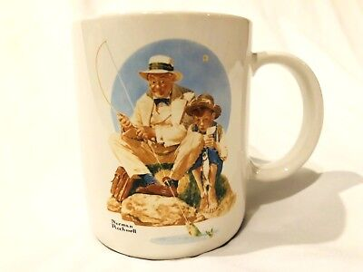 $ CDN14.50 • Buy Norman Rockwell Museum Collection  Catching The Big One  Coffee Mug Vintage 1987