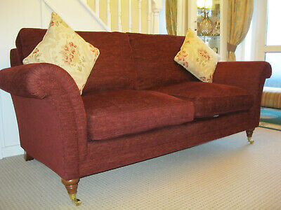 £749 • Buy Parker Knoll Burghley Large 2 Seater Sofa In Red Burgundy Fabric.