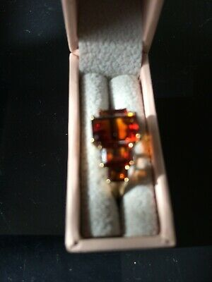 £80 • Buy Madeira Citrine Ring In 9ct Gold, Size J, Excellent Condition