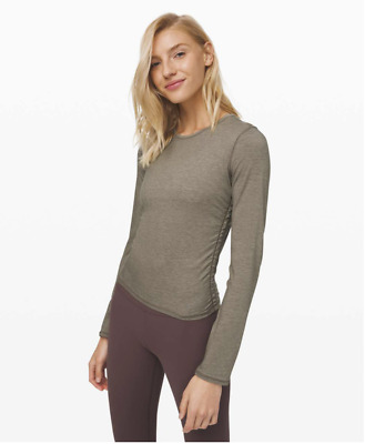 $ CDN35.07 • Buy Lululemon Truthful Form Long Sleeve Crop Top - Size 4 - Cashlu Cashmere