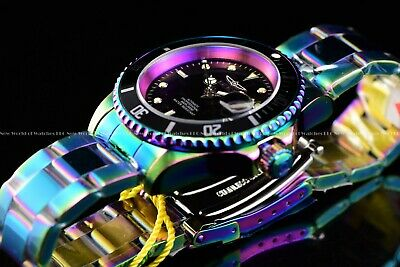 $ CDN16.32 • Buy Invicta Men 40mm Pro Diver Iridescent Automatic NH35A Black Dial Coin Edge Watch