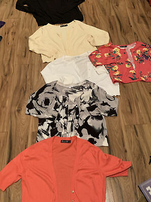 $ CDN9.67 • Buy Lots Of 6 New York And Company Summer Cardigans Large