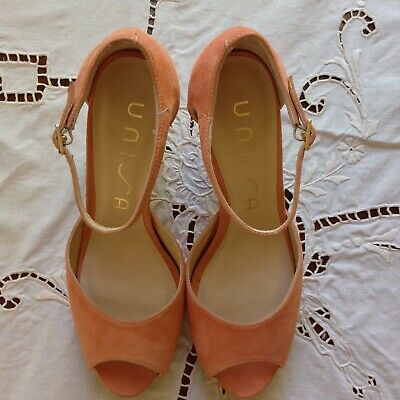 AU45 • Buy UNISA. EU 38 Made In Spain All Leather/Suede Shoes Designer Heels Apricot As New