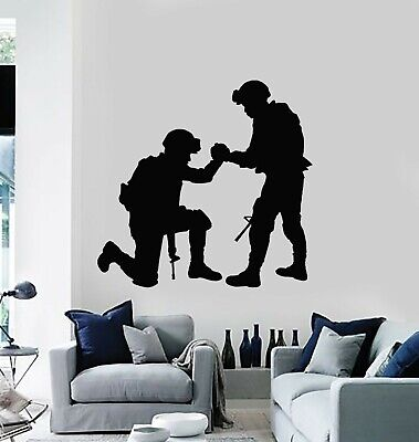 $68.99 • Buy Vinyl Wall Decal Military Interior Soldiers Support Patriotic Stickers (g5496)