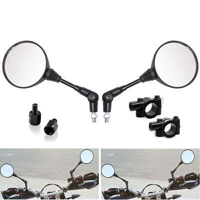 $19.99 • Buy Universal Motorcycle ATV Scooter 7/8  22mm Handle Bar End Rearview Side Mirrors