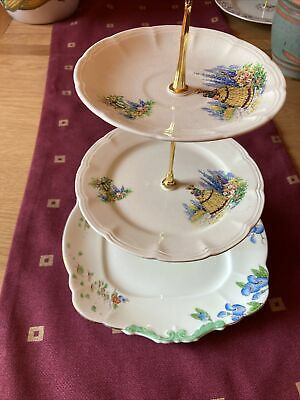 £10 • Buy Vintage Cake Stand. Three Tiers. Newly Made By Seller. Gold Centre Rod.