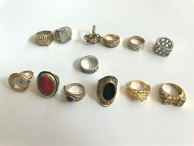 $ CDN12 • Buy Vintage Costume Ring Lot, Some Wearable, Craft Or Repurpose-UNTESTED