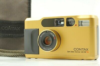 $ CDN1698.29 • Buy 【MINT In CASE W/STRAP】 Contax T2 Titan Gold Point & Shoot Film Camera From JAPAN