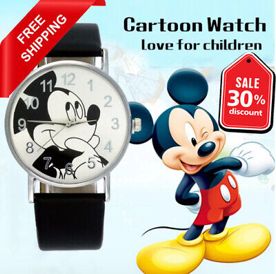 $ CDN15.76 • Buy Mickey Mouse Watch Women  Kids Top Brand Luxury