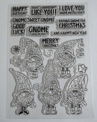 £3.99 • Buy Gnome Stamps With Lots Of Sentiments - Birthday, Christmas, Good Luck, Love Etc