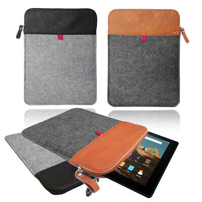 £5.95 • Buy Felt Leather Travel Case Cover Sleeve Bag  For AMAZON KINDLE FIRE Tablets