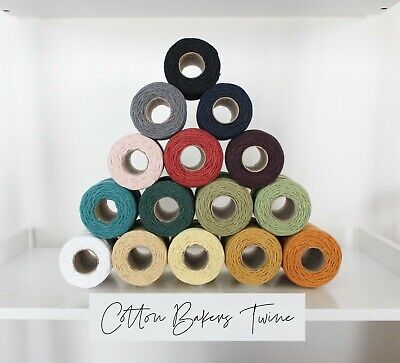 £2.99 • Buy Cotton Bakers Twine, Perfect For Crafts, Multiple Lengths, Solid Colour String