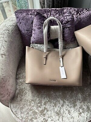 £2.40 • Buy Calvin Klein Leather Beige Tote  Bags  Roth Inner Bag