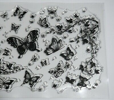 £3.99 • Buy Butterfly Butterflies Flutter Background Clear Stamp - BNIP – FREE P & P