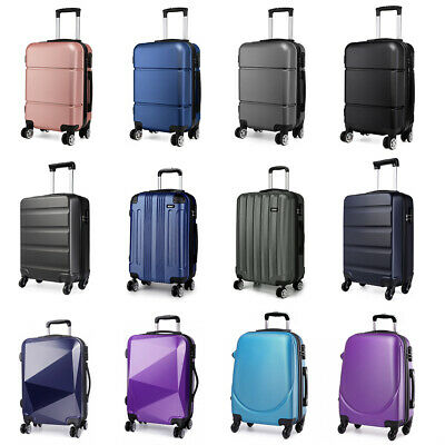 £21.99 • Buy 20'' Cabin Suitcase Lightweight Hand Travel Case Hard Shell Spinner Luggage
