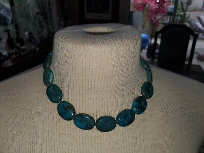 $ CDN68.48 • Buy WK Whitney Kelly  925 Sterling Silver Turquoise Stone Necklace 18