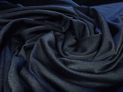 £6.99 • Buy Ponte Roma Double Jersey Knit Dress Fabric, Soft Handle, Per Metre - Navy Blue