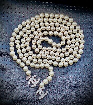 £550 • Buy Chanel Pearl Wrap Around Necklace ( 53 Inches In Length)