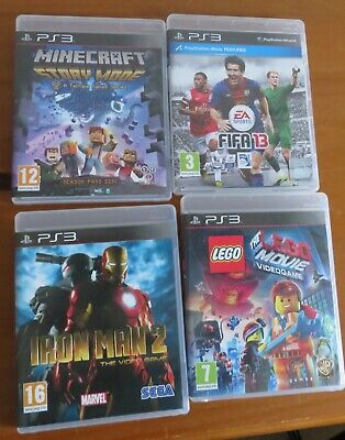 £3 • Buy 4x Play Station PS3 Games; Minecraft Story, FIFA 13, Lego Movie, Ironman 2