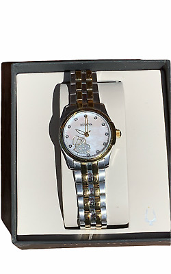 $ CDN12.12 • Buy Bulova Womens Luxury Watch Silver Gold Tone Water Resistant Analog Watch USED