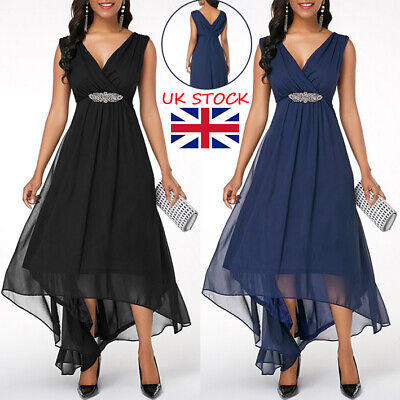 £16.95 • Buy Women Asymmetric Formal Party Maxi Long Dress Evening Cocktail Prom Ball Gown UK