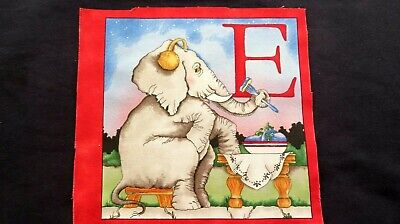 £3.79 • Buy Hungry Animals ABC Letters Fabric Cotton Craft Quilting Small Panel 8  X 8   E