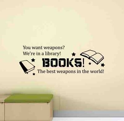 £21.12 • Buy Books Wall Decal Doctor Who Quote Library Decor School Poster Vinyl Sticker 1003