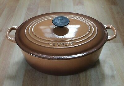 £7.50 • Buy Le Creuset Cast Iron Large 30cm Brown Oval Casserole Dish Pot Pan With Lid