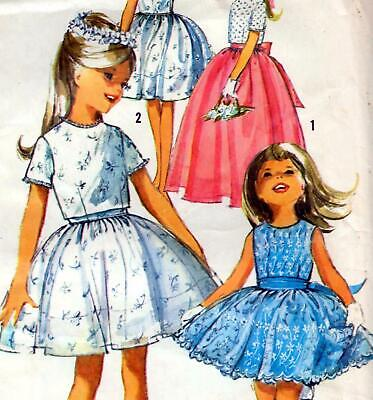 £7.19 • Buy Vintage 60s GIRLS PARTY & BRIDESMAID DRESS Sewing Pattern Age 4 Chest 23  RETRO