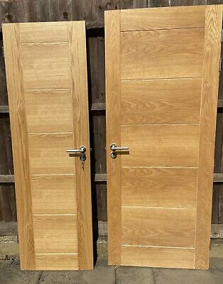 £99 • Buy Two Solid Heavy Wood Wooden Interior Internal Doors Handles And Hinges Included
