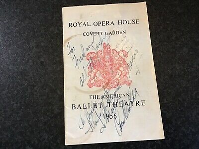 £7.99 • Buy ROYAL OPERA HOUSE COVENT GARDEN PROGRAMME - 1956 - Tickets Signed Collectors